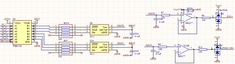 电路连接,,后面有op2277