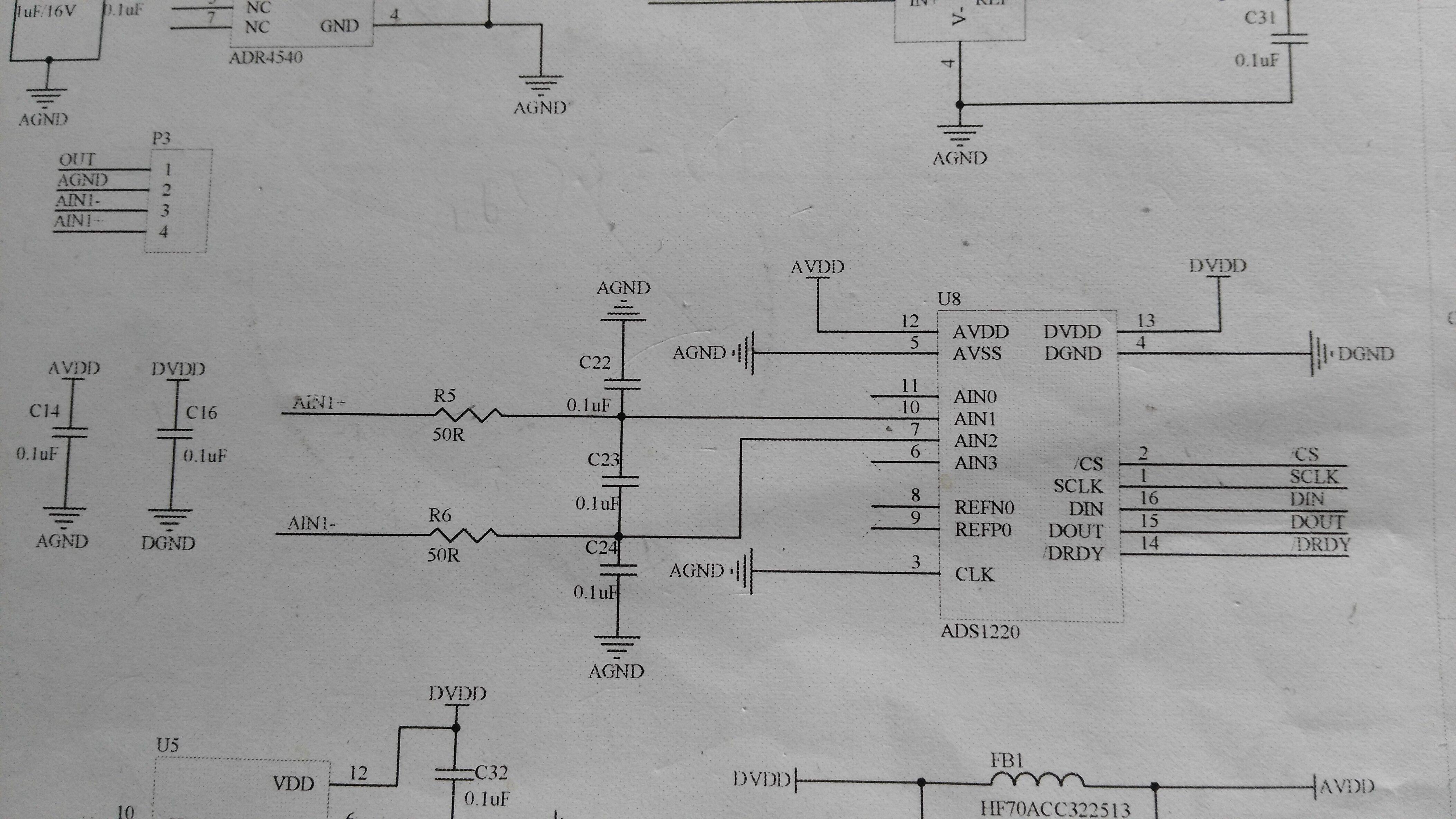 各位TI的大咖们: 请教一个问题。我使用ADS1220设计一款电路用来采集一个电阻桥式传感器。设计的时候我想使用内部的2.048V基准作为基准电压,以下为电路图。  但是我在看技术手册的时候,有这么一句话 那么,请问:1、我是不是需要在reference input pairs上或者analog supply上接上外部的电压基准呢? 2、如果不接的话,会产生什么问题?对精度有没有影响?  感谢解答!