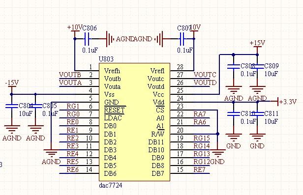 dac7724多路模拟量输出问题