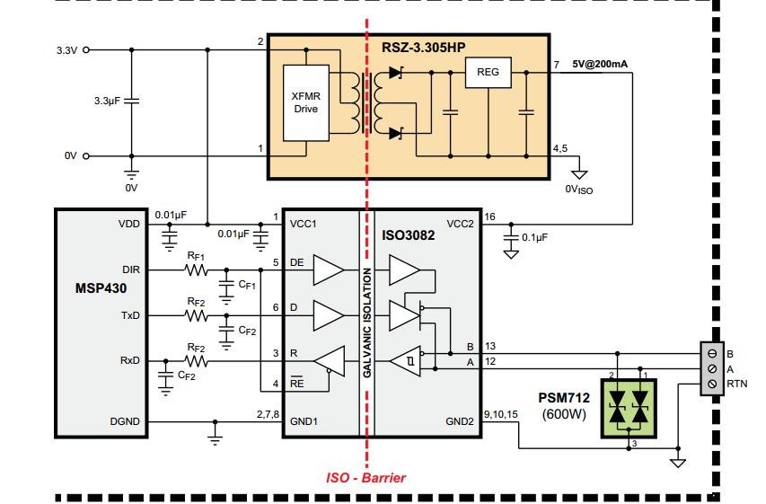 的隔离式485电路设计