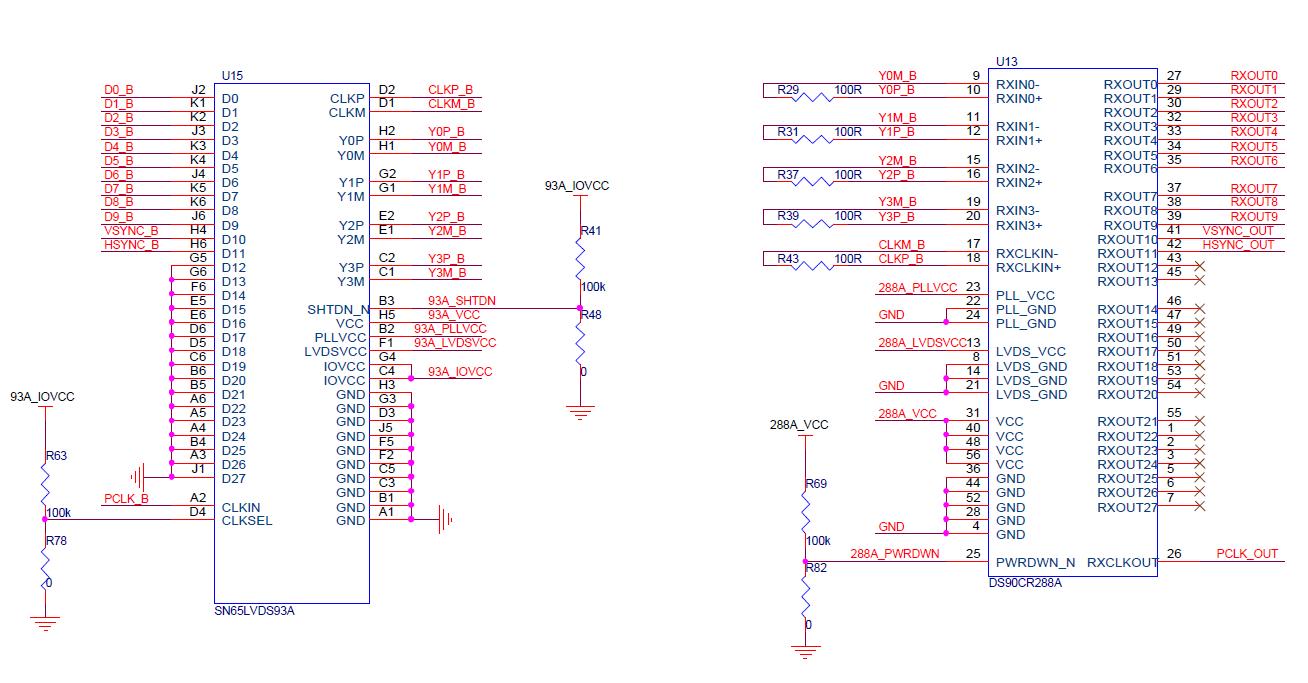 sn65lvds93adgg能否替代ds90c385amt