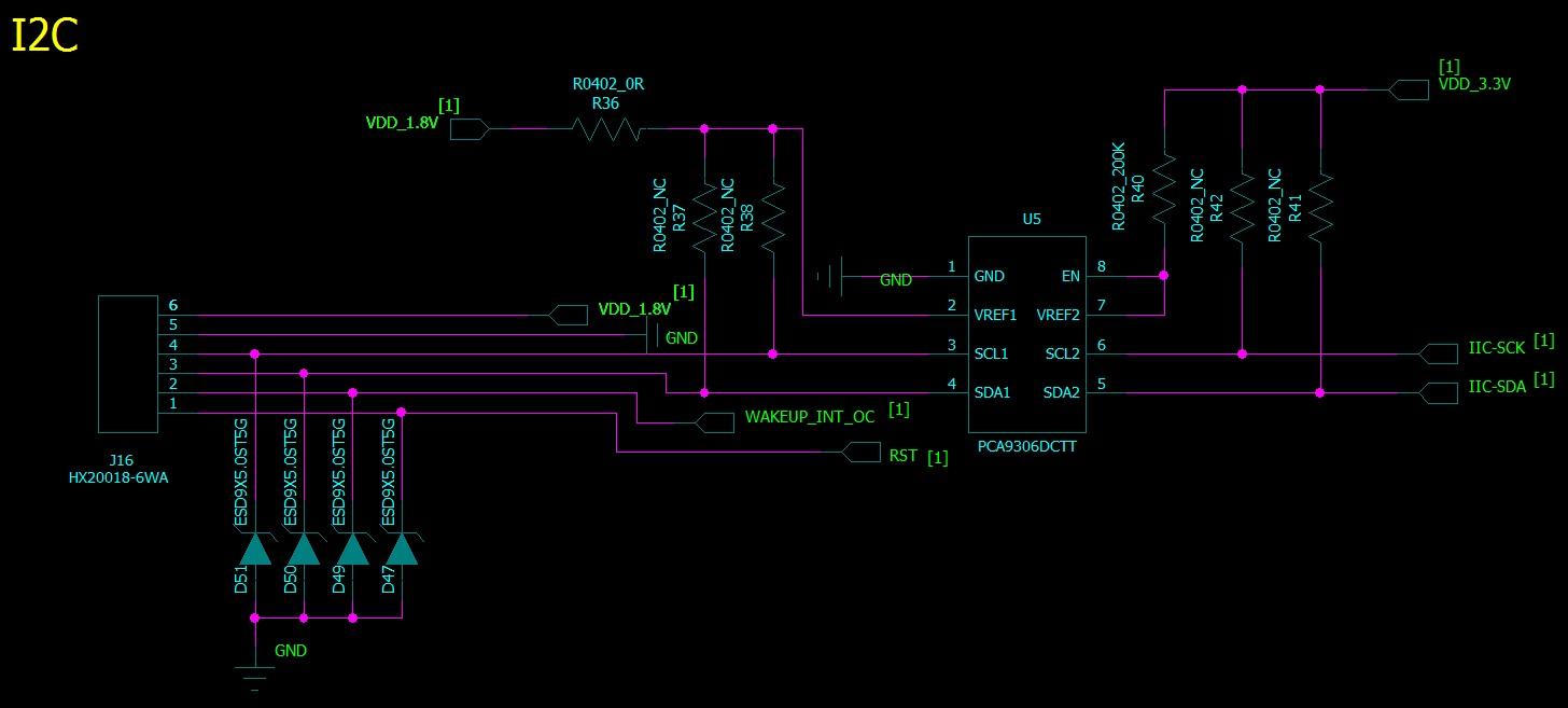 关于双向i2c总线电平转换芯片pca9306的使用疑问