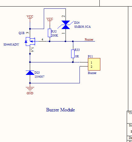 pmos作为开关量驱动蜂鸣器问题