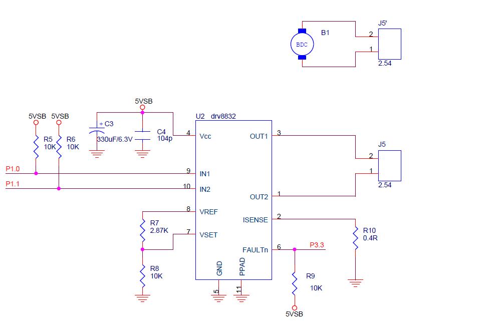 drv8832 电机驱动 偶尔工作异常