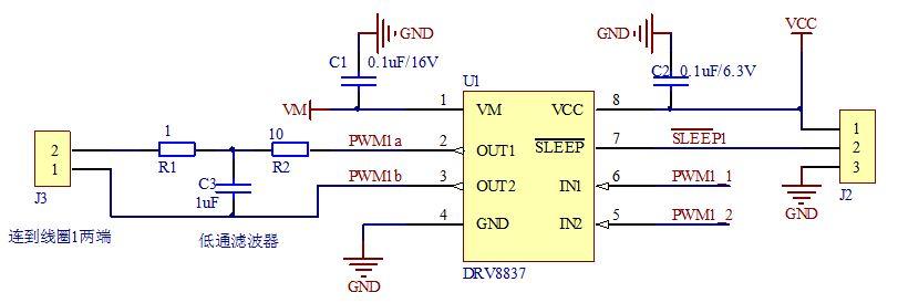 pwm通过调占空比控制电压大小