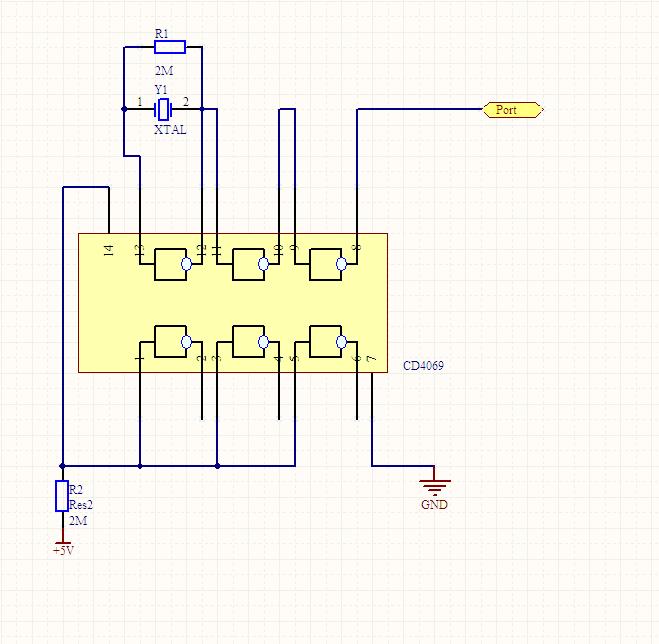 cd4069组成的振荡电路
