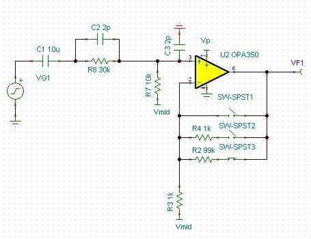 (c3是我画的运放输入电容),前面隔直但是想保留低频0.