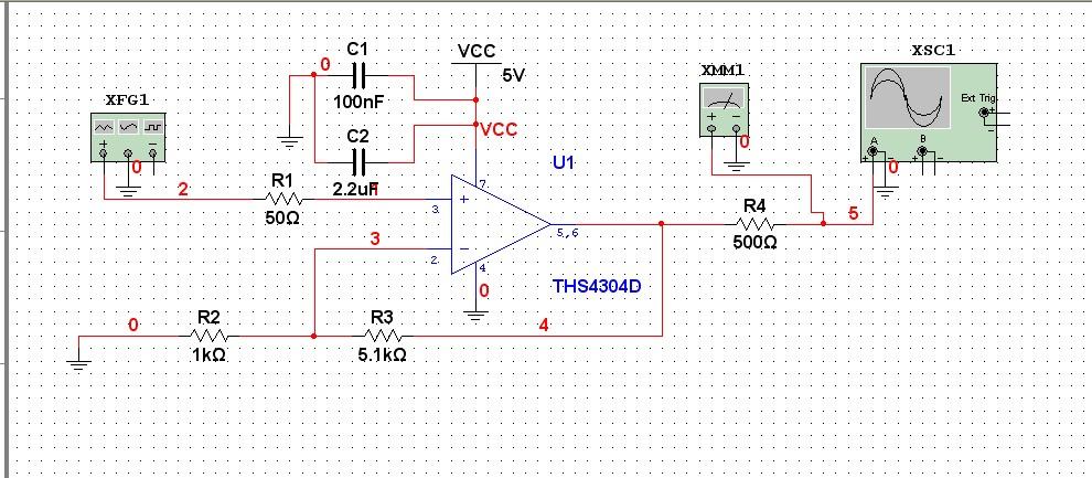 2,你的电路自激震荡了.这款运放带宽达到3g,很容易发生自激.