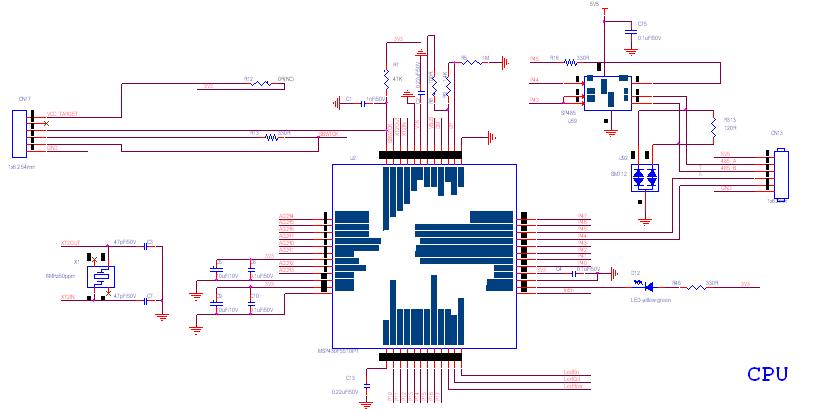 msp430晶振电路