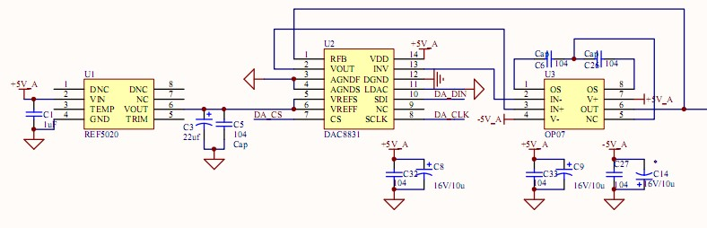 dac0832双极性输出