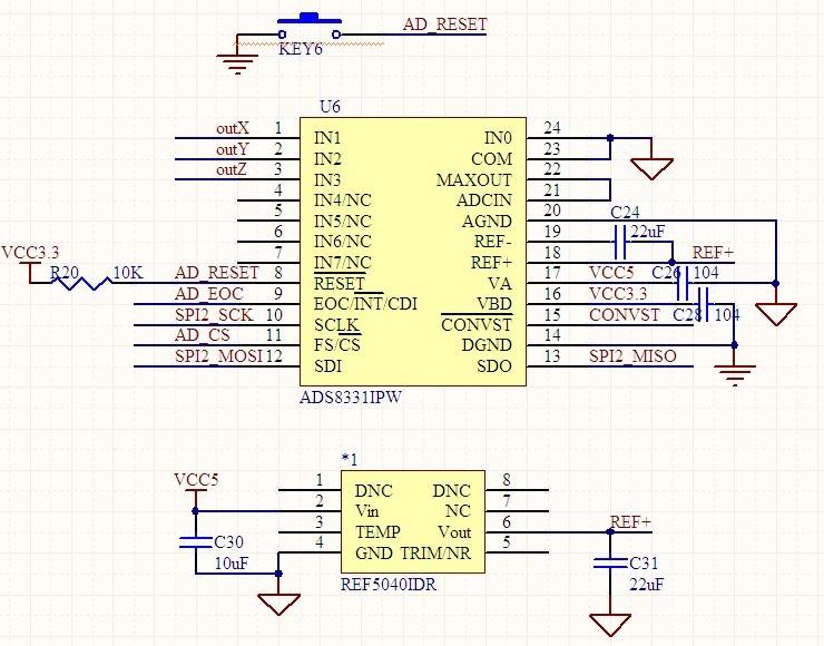 ads1118采样电路