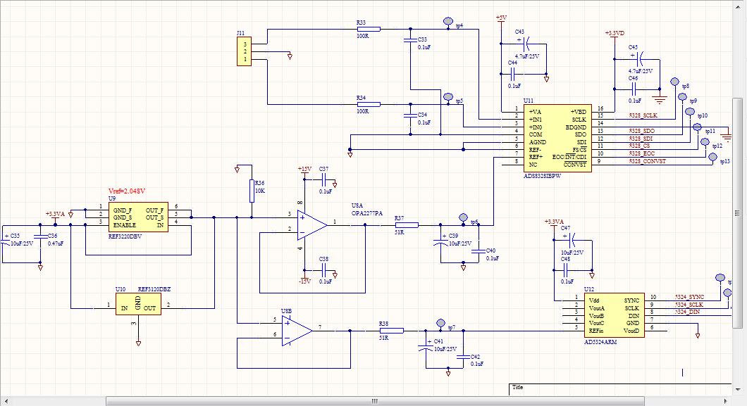 以下是我的硬件电路和测量的