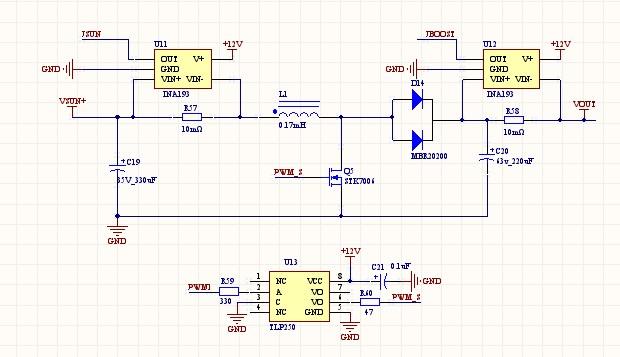 """我用<a href=""""http://www.ti.com.cn/product/cn/INA193"""" target=""""extwin"""">INA193</a>检测boost电路电流,但是这个芯片老是出问题,现在不管通过采样电阻的电流是多少,芯片输出值总是0.125v,V+我用的是12v,采样电阻是10毫欧,没有过压也没有超出量程,请问是什么原因啊?</p><div style=""""clear:both;&quot"""