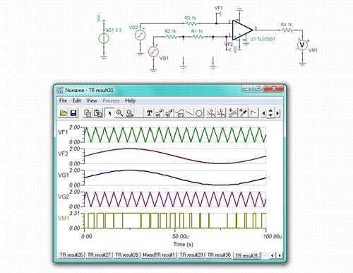 电路汇总vg1部分滤波电路带宽太低了,电容太大,造成输入到比较器输入