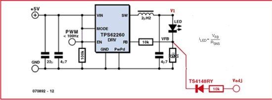 请推荐一款50ma以下led恒流源驱动芯片,可模拟调节