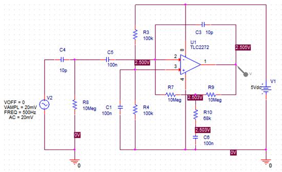 正弦电压放大器电路图