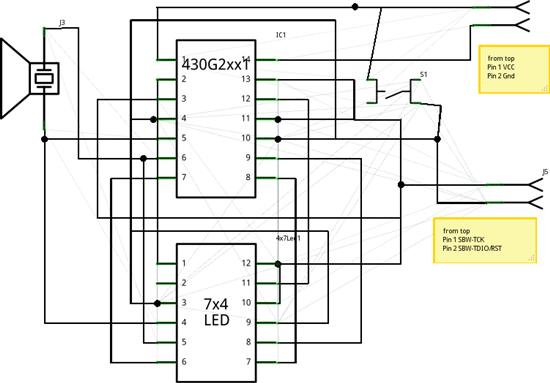msp430芯片电路图