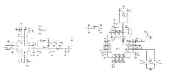 cc2592与cc2530硬件按官方给的连接图