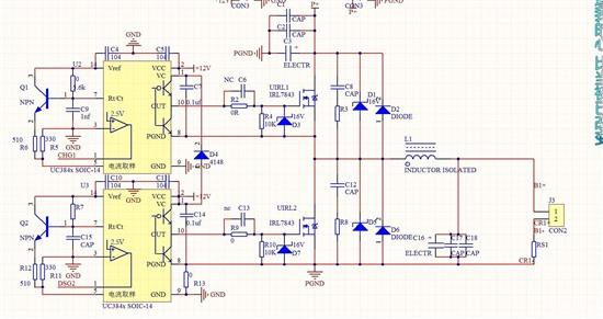 uc3843构成双向dc-dc电路