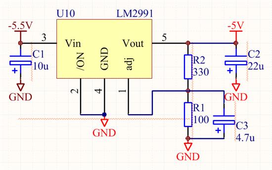 关于lm2991的典型电路的问题