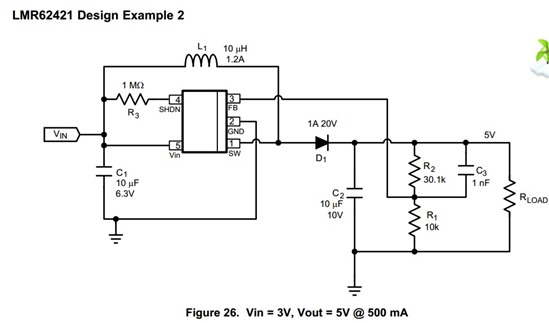 3v到5v的升压电路输出电压有严重的尖峰噪声!求赐教?