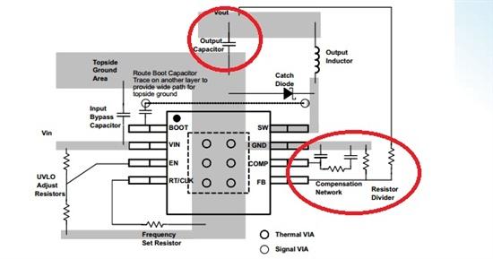 tps54340降压开关电源芯使用问题