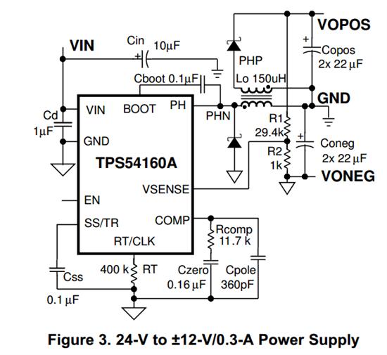 24伏单电源变正负十二伏双电源,有何简单的方案?