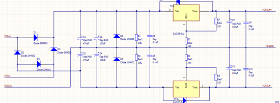 Hi datasheet是乎没有说得很清楚,只提到过流保护: When an overload occurs, the device shuts down Darlington NPN output stage or reduces the output current to prevent device damage. 即当过流时芯片可能会减小电流输出。但是并米有提到过温保护是不是也是这样(芯片有过温保护) 但是在datasheet参数表中:  在你的应用电路中10V输入5V输出,如果电流是5A,功耗时