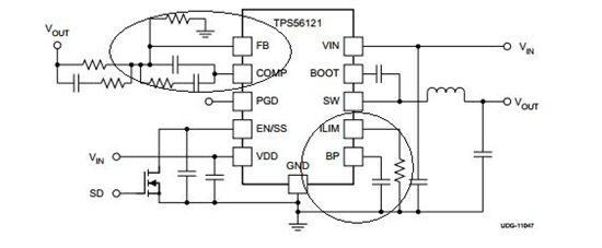 TI FAE: Johnsin Tao解答了楼主的问题:在您的电路中进一步增加输入电容的容值(可以采用X7R等陶瓷电容),layout上靠近Vin脚。初步怀疑是低温一下,输入电容容值降低导致的瞬态稳压能力降低,因为调高输入电压可以解决。而正常启动后,降低电压仍能正常工作是因为欠压保护的迟滞作用。  下面我们看看楼主的另外一个相关的问题:出问题时板上VIN处有100uF、22uF钽电容各1个,两个1uF X5R陶瓷电容,耐压值都是25V,请问这样的配置有问题么?就算计入低温及DC偏压的因素,容值也不会下降