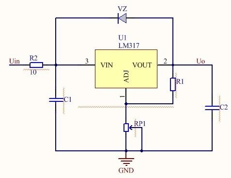 10个知识点   简单的高压输出稳压电路如下图所示