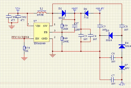 tps61040输出纹波过大的问题.