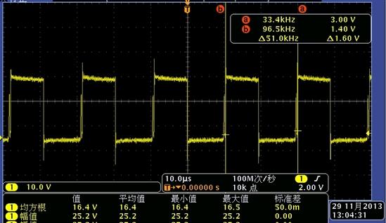 请问lm25088问题,带载3.6a时,sw引脚波形频率异常,电感发热严重