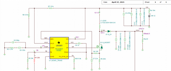 技术论坛 模拟与混合信号 电源管理 升压电路lm3481的使用  求帮助