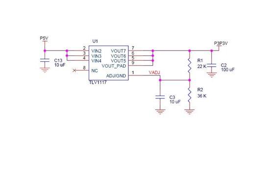技术论坛 模拟与混合信号 电源管理 tlv1117输出异常,5v转3.