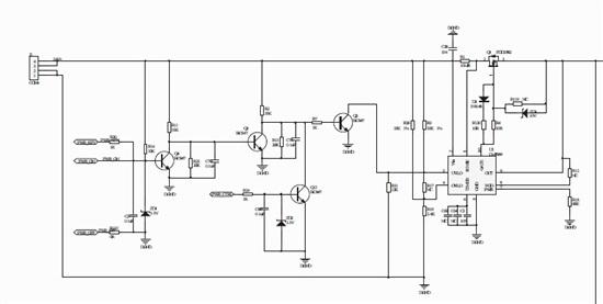 先看看楼主的电路图,如下所示
