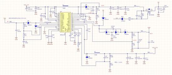 电源电路温度升高后,电压跌落