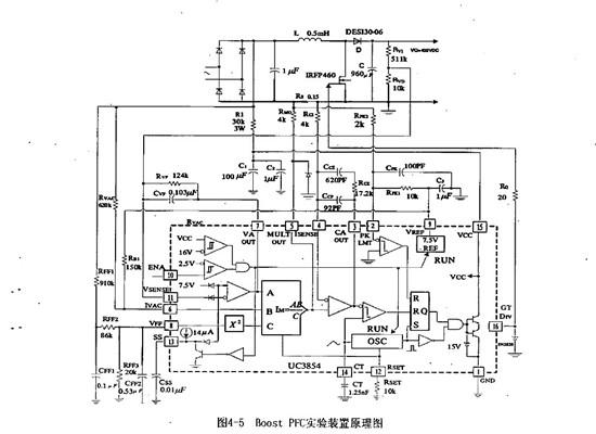 关于uc3854功率因数校正原理图的问题