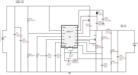 关于宽范围输入降压稳压控制芯片lm25117问题
