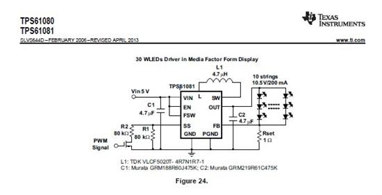 fu 使用的电源芯片是tps61081