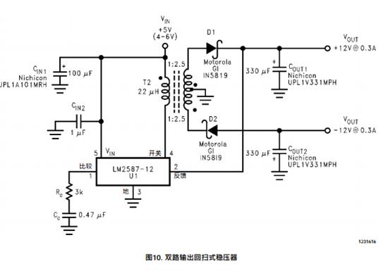7.2v电源输入,正负15v电源输出,要求用开关电源芯片有什么推荐吗