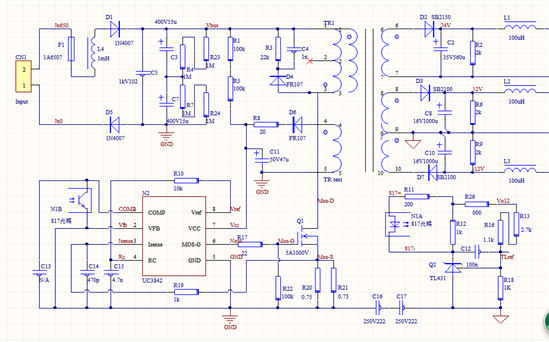 uc3842信号发生电路