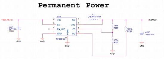 选用TPS62125,目标输入12V,输出3.3V,输出电流3mA以下就可以。 现象:输入电压增加,输出电压也增加,在输入6V电压以下,增加输入电压可以输出3.3V,在大于6V电压以上,增加输入电压输出电压也增加,在输入12V时,输出电压在10V左右,FB电压在2.5V以上。 原理图和PCB附在下面,请问怎么解决。谢谢了。