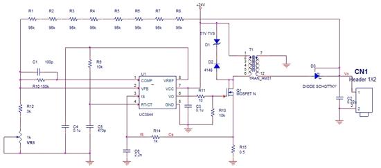 uc3844做的电源,采样电阻上有振荡是什么原因