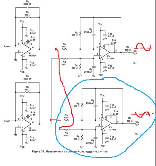 pcm63平衡输出电路图