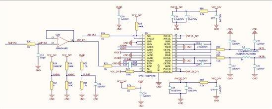 我在使用TPA3110做一款产品,只需要输入固定频率不同幅度的信号,信号范围在28KHz左右。</p> <p>但是现在出现一个问题就是,在/SD 使能前,如果RINP已经有一个幅度稍微大点的信号,功放使能时就会自动保护,然后400mS后又使能,然后又保护。如此反复。</p> <p>目前处理是,/SD使能后,延时25mS,然后输入信号,且信号幅度按一定步进缓慢增加。此点导致要到达需要的初始输入,需要120多mS。反应太慢。</p> <p>在使能后的使用过程,需