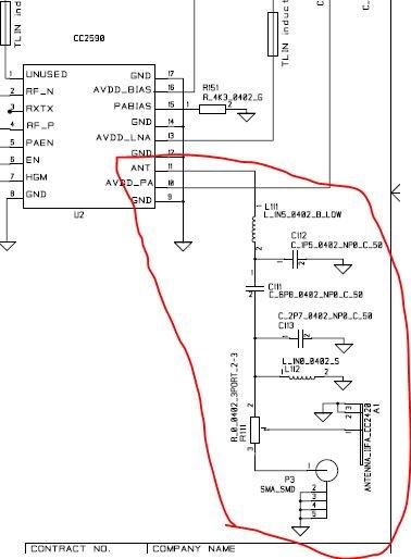 cc2590的硬件设计的阻抗匹配