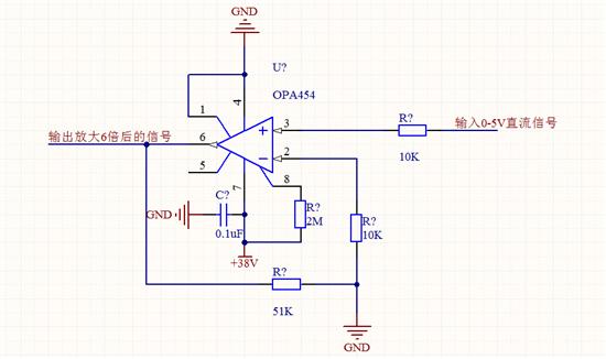opa454高压运放 在0-1.8v范围内无法放大!