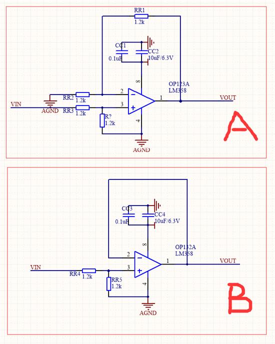 以lm358做信号放大器的电路图