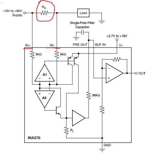 电流高端检测芯片ina270