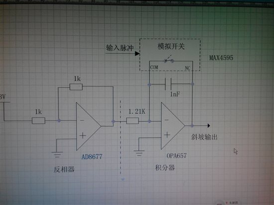 使用opa657做有源积分器出现高频振荡!